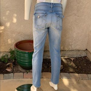 True religion light wash Audrey slim boyfriend 30